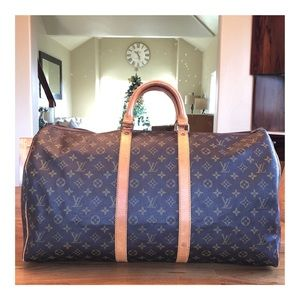 AUTHENTIC LOUIS VUITTON KEEPALL 55 DUFFLE BAG